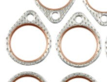 66-84 Shovelhead STEEL CORE EXHAUST PORT GASKETS (PAIR) Made in U.S.A.